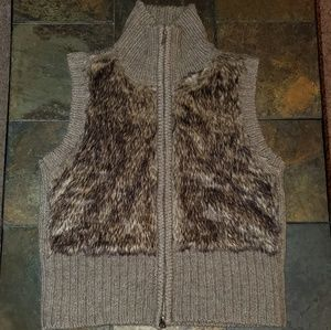 CAbi Faux Fur Zippered Vest
